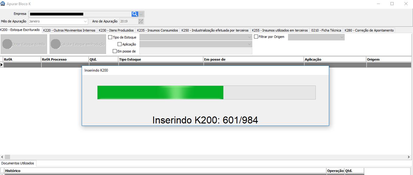 Inserindo K200